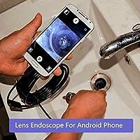 Giantree Cámara impermeable de la serpiente de CMOS HD, endoscopio de la inspección del endoscopio de 1M los 7MM Android con la cámara de vídeo de la serpiente del tubo de 6 LED