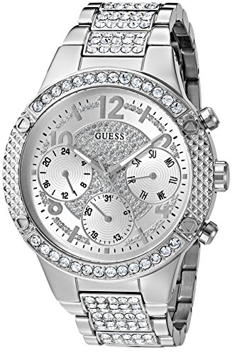 GUESS U0850L1 Silver Tone Crystal Accented Stainless