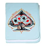 Royal Lion Baby Blanket Four of a Kind Poker Spade - Sky Blue