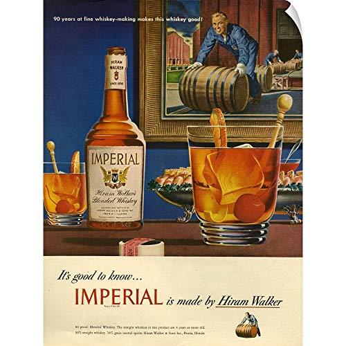 (CANVAS ON DEMAND Imperial Whisky Magazine Advertisement Wall Peel Art Print,)