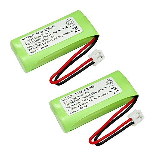 2 Pack Fenzer Cordless Phone Batteries for Sanik 2SN-AAA65H-S-J1 ()