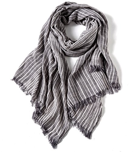 Cotton Striped Shawl Lightweight Scarves