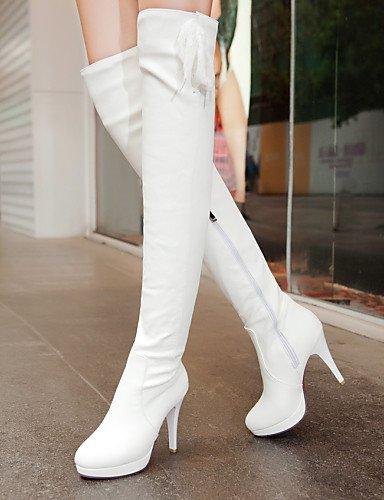 De Mujer Azul Stiletto Casual Semicuero La Eu41 Uk Tacón Xzz Moda Puntiagudos 5 Uk8 Exterior Black us9 negro White A 5 Vestido 5 Cn43 Zapatos Eu42 Uk7 Cn42 us10 10 5 Botas 8 ZEqI5