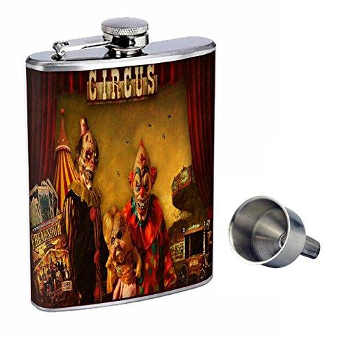 人気を誇る ヴィンテージCreepy Clowns Perfection inスタイル8オンスステンレススチールWhiskey Flask with Free Free Funnel d-015 Clowns Perfection B016XLSYPW, リサイクルきものせんしょう:1fd3a55a --- shrigajendrajewellers.com