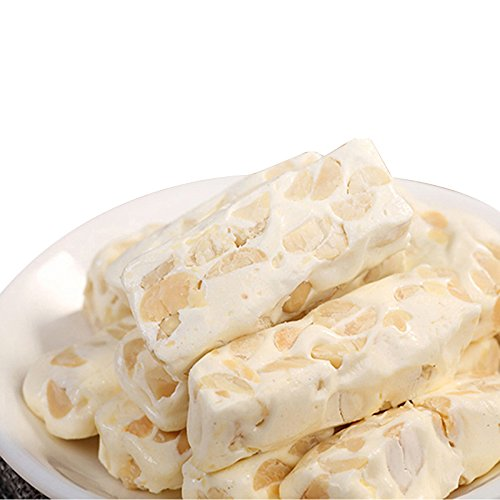 DawnLam Chinese food nougat candy Peanut sesame green tea taste 1000g