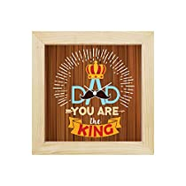 YaYa cafe You are King Dad Desk Clock for Father 8x8 inche