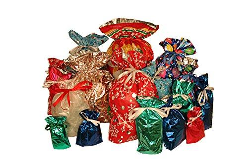 Gift Mate 52 Piece Gift Bag Set (Christmas Wrapping Bags)