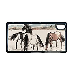 Generic Durable Back Phone Case For Children Custom Design With Asian Horse Artists For Sony Z2 Choose Design 7