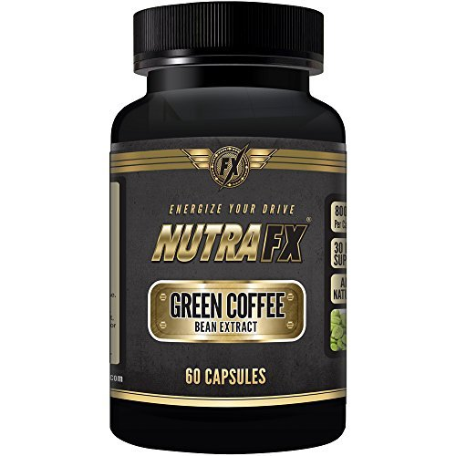 NutraFX Pure Green Coffee Bean Extract Pills with GCA - All Natural Weight Loss Support - Quality Green Coffee Bean Extract - Natural Appetite Suppressant & Energy Booster - 60 Capsules by NUTRAFX