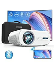 5G WiFi Projector, ONOAYO 9200L Full HD Native 1920×1080P Bluetooth Mini Projector, Support 4K &Zoom, Full Sealed Optical/LCD/LED/Home/Outdoor Movie Portable Projector for Phone,PC,PS4,TV Stick