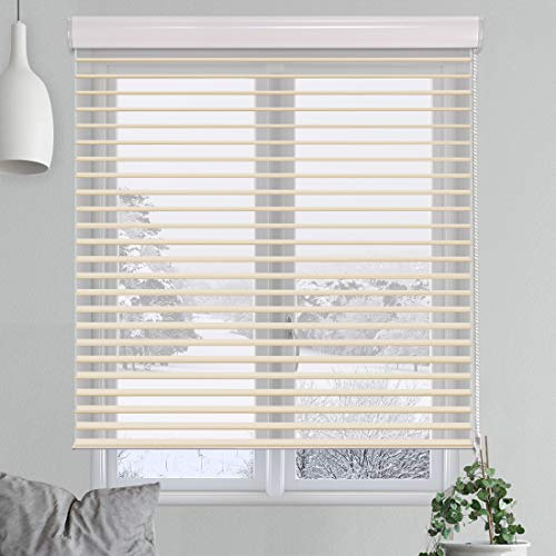Keego Sheer Window Blinds Custom Size, Light Filtering Shangri-La Window Roller Shades, Triple Sheer Shades for Privacy and Light Control [Classic Vistas Series Beige, 35″ W X 60″ H]