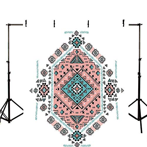 - Tribal Decor Stylish Backdrop,Mexican Native American Ethnic Symmetrical Four Corner Art Pattern for Photography,78.7