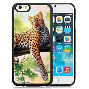 Beautiful Custom Designed Cover Case For iPhone 6 4.7 Inch TPU With Leopard Art Phone Case