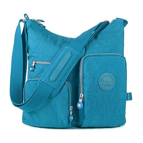 Turquoise Multi Blue Medium Oakarbo Nylon 1203 Pocket Bag Crossbody gYR08Yn