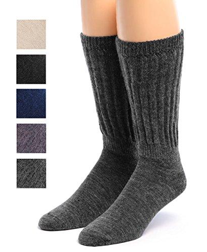 Warrior Alpaca Socks - Womens Therapeutic Diabetic Terry Lined Alpaca Wool Socks