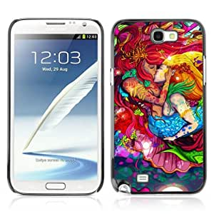 YOYOSHOP [Cool Mermaids Kissing Colors] Samsung Galaxy Note 2 Case