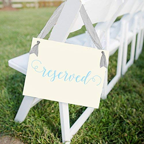 Reserved Chair Sign for Wedding Ceremony or Party in Romantic Script Font