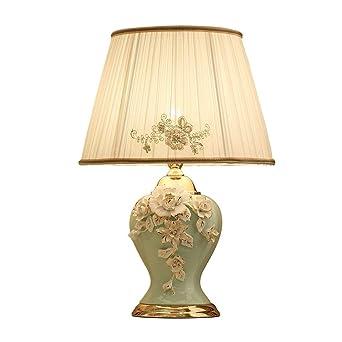 Shirleys Home Lámpara de mesa de cerámica - Charm Elegante ...
