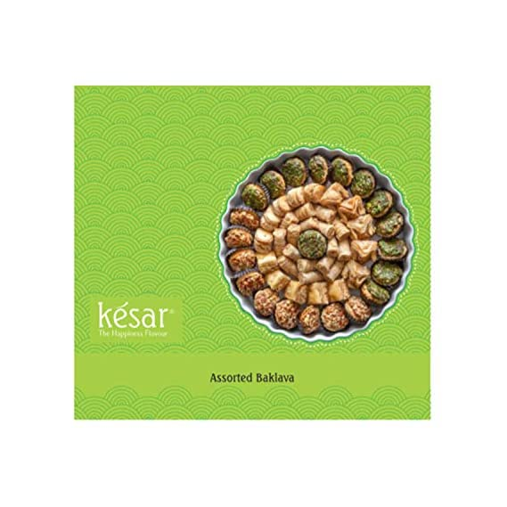 Kesar The Happiness Flavour Assorted Baklava Fresh Indian Sweets (400 Gms Pack)