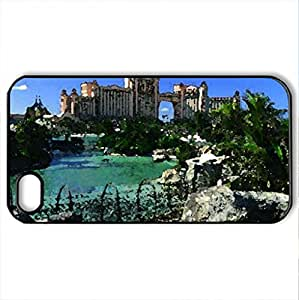 Atlantis Picture - Case Cover for iPhone 4 and 4s (Amusement Parks Series, Watercolor style, Black)