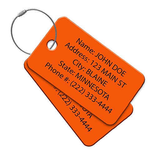 High Visibility Multi Pack Customized Travel ID Tag - Luggage Tag - Golf Bag ID - Personalized ID Travel Tag - Imprinted Luggage Tag - Soccer, bikes, sport equipment and more. (8) by Performance IDs (Image #1)