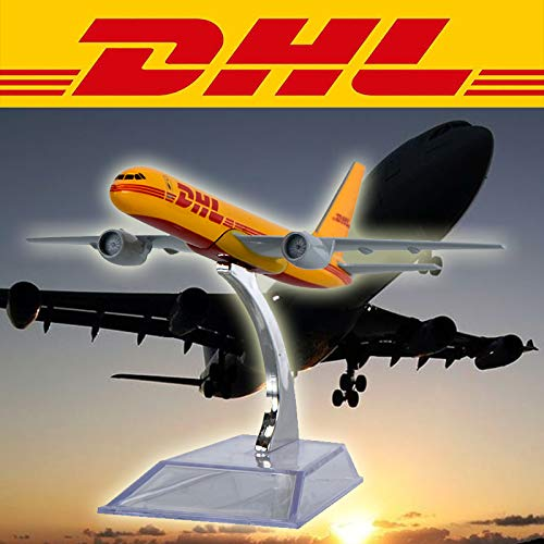 ZAMTAC WR DHL Exclusive Airplane Model Color Orange Mini Aircraft Model Desktop Decoration Express Plane Model