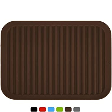 Silicone Pot Holder, Trivet Mat, Baking Gadget Kitchen Table Mat, Silicone Drying Mat, Draining Board - Waterproof, Heat Insulation, Non-Slip, Trivet, Tableware Pad Coasters,Durable,Brown(9  x 12 )