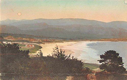 Carmel Bay California Birds Eye View Hand Colored Antique Postcard J70268