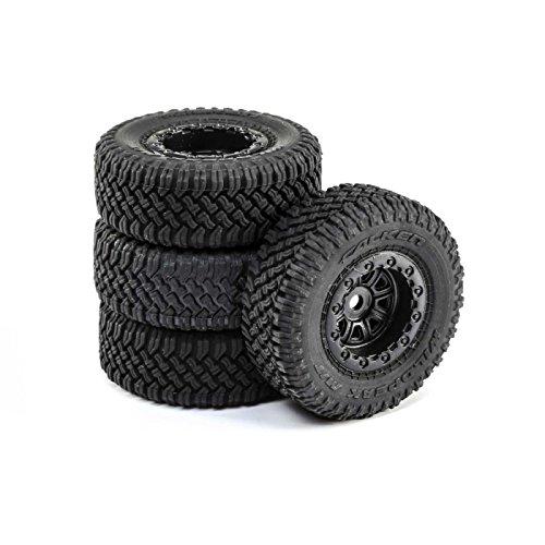 ECX Premount Tires (4) for 1/24 Barrage 4WD Scaler RC Rock Crawler