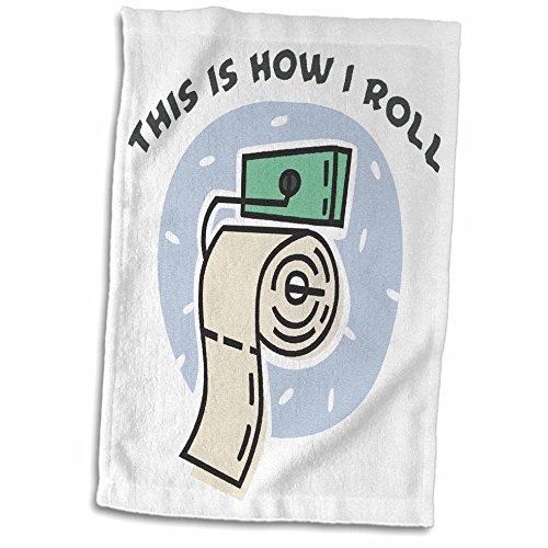 3D Rose Funny Toilet Paper Roll Design Hand/Sports Towel,...