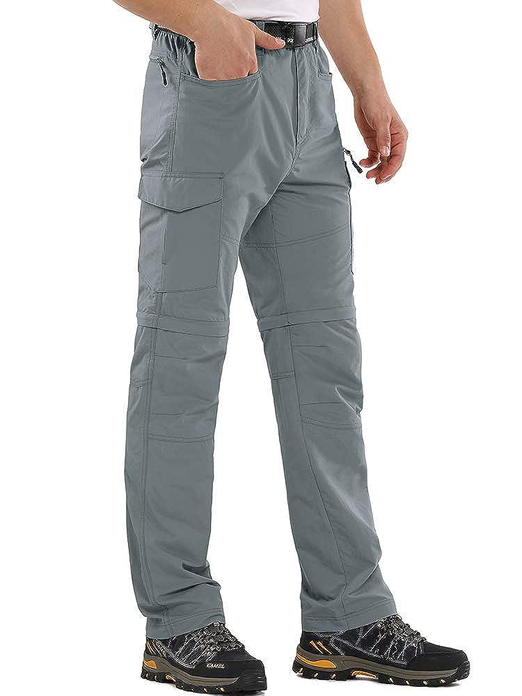 Hiking Pants Men Convertible Quick Dry Durable Cargo Fishing UV Protection Safari Pants