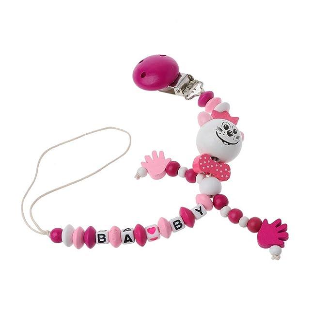 Baiyao 1 Pc Chupetes de Clip Bebé Cadenas para chupetes Como regalos Clip de Chupete Soothie chupete Holder, mejores regalos de Baby Shower (rosa)