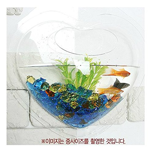 Heart Fish - KAZE HOME Wall Mount Fishbowl, Heart