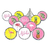 Flamingo Pineapple Tropical Party Favor Stickers, 324 Count