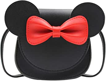 Toddler Kids Crossbody Purse Bowknot Shoulder Bag Little Girl's Cute Purse with Cartoon Ears