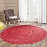 Safavieh Adirondack Collection ADR108F Red and Black Oriental Vintage Medallion Round Area Rug (8′ Diameter) Review