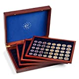 Presentation case VOLTERRA QUATTRO de Luxe for 24 euro coin sets in capsules, mahogany