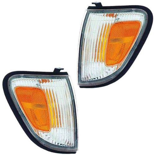 Toyota Tacoma Corner (1998-2000 Toyota Tacoma 4WD & 1997-2000 PreRunner 2WD Truck Corner Park Lamp Turn Signal Marker Light Pair Set Right Passenger AND Left Driver Side (1997 97 1998 98 1999 99 2000 00))