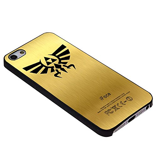 Zelda TRIFORCE Golden for Iphone Case (iPhone 6S plus black)