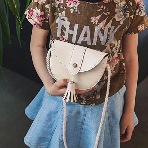 Mini Messenger Purse White Girls Tassel Crossbody Flap Domybest Shoulder Bags Kids Leather SdqPg4