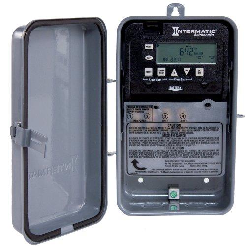 Intermatic ET8015CR 7-Day 30-Amps SPST Electronic Astronomic Time Switch, Clock Voltage 120-Volt - 277-Volt NEMA 3R by Intermatic