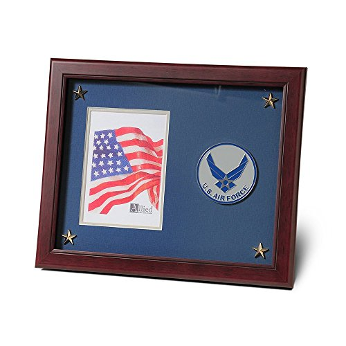 Allied Products Aim High Air Force Medallion 8-Inch by 10-Inch Certificate and Medal Frame (Air Frame Force)