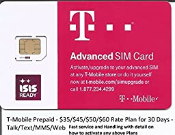 T-MOBILE PRELOADED SIM CARD WITH $65 PLAN