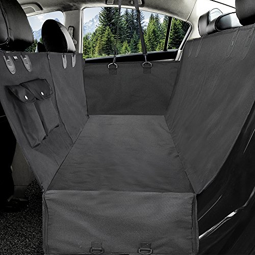 WINNER OUTFITTERS Dog Car Seat Covers with Zipped Side Flaps,Waterproof Dog Seat Cover Pet Seat Cover with Front Zipper and Pockets for Cars, Trucks, and SUV,Durable,Scratch Proof,Anti-Slip