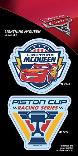 (Cars 3 ST PCRS3 MQPC01_4b8_3 Decal (Lightning McQueen and Piston Cup Duo 4x8 Tri-Language))