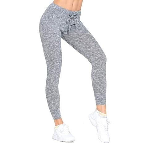 ZMJY Pantalones de Fitness para Mujer, Sentido Cintura Alta Medias ...