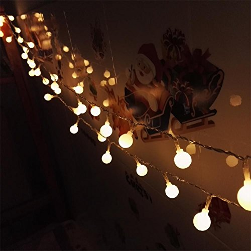 String Lights With Battery: Bedroom Wedding 16 Feet 50leds LED Globe String Lights