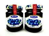 Hero Premium Blueberry Fruit Spread, 12 oz Jars in a BlackTie Box (Pack of 2)