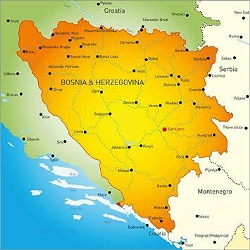 Posterlounge Acrylglasbild 100 X 100 Cm Bosnien Und Herzegowina