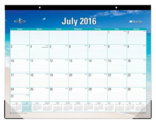 Blue Sky 2016 2017 Academic Year Desk Pad Calendar  22  X 17   Endless Summer  18489